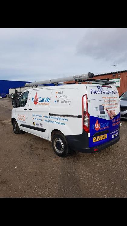 Our main van with its new signage, We think it looks fantastic!